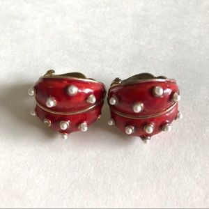 Les Bernard Jewelry - Les Bernard 🌸🌸ladybug vintage clip earrings